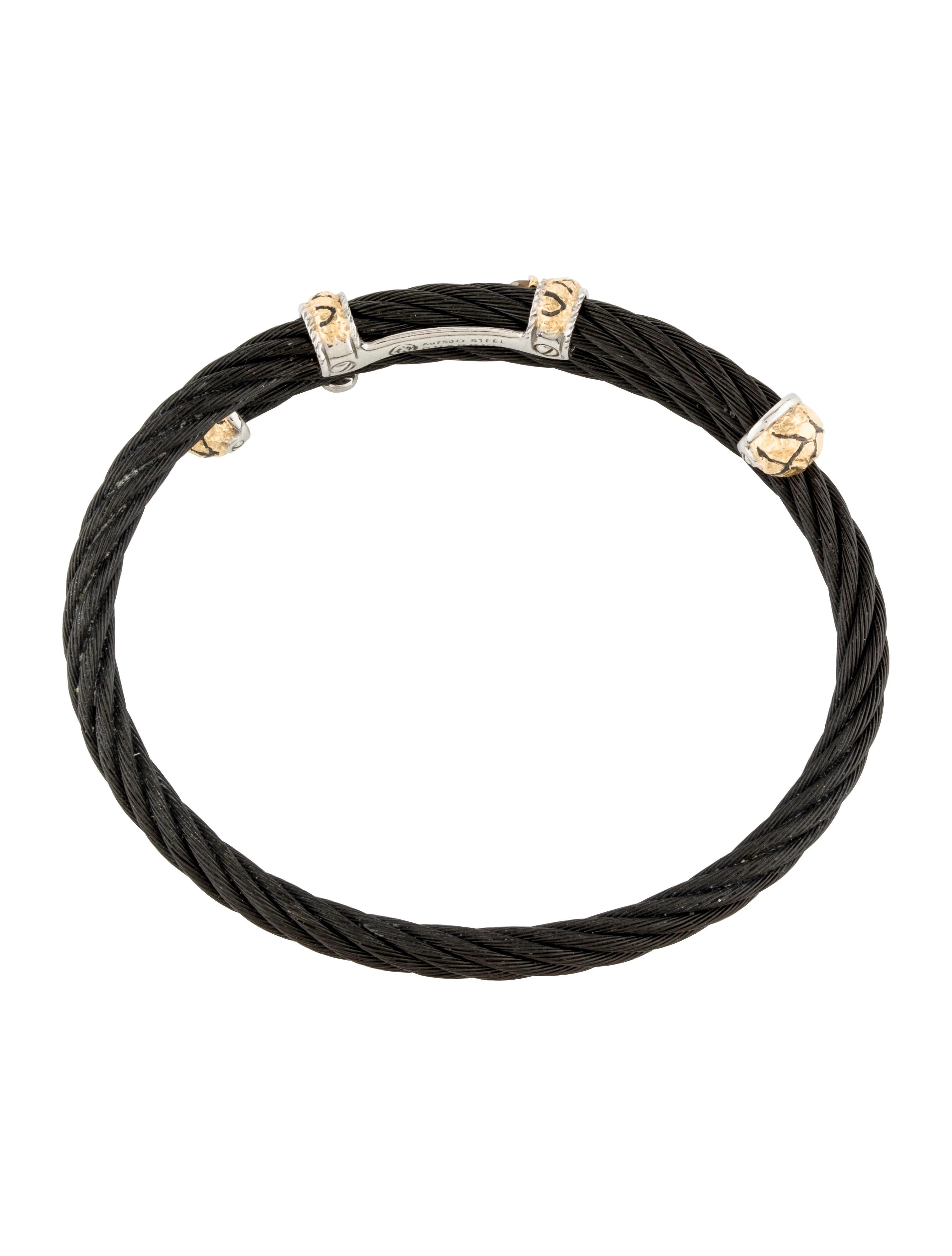 Charriol Two Tone Diamond Cord Bracelet
