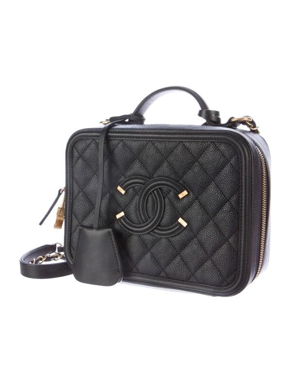 Filigree Vanity Case Chanel CC Bag
