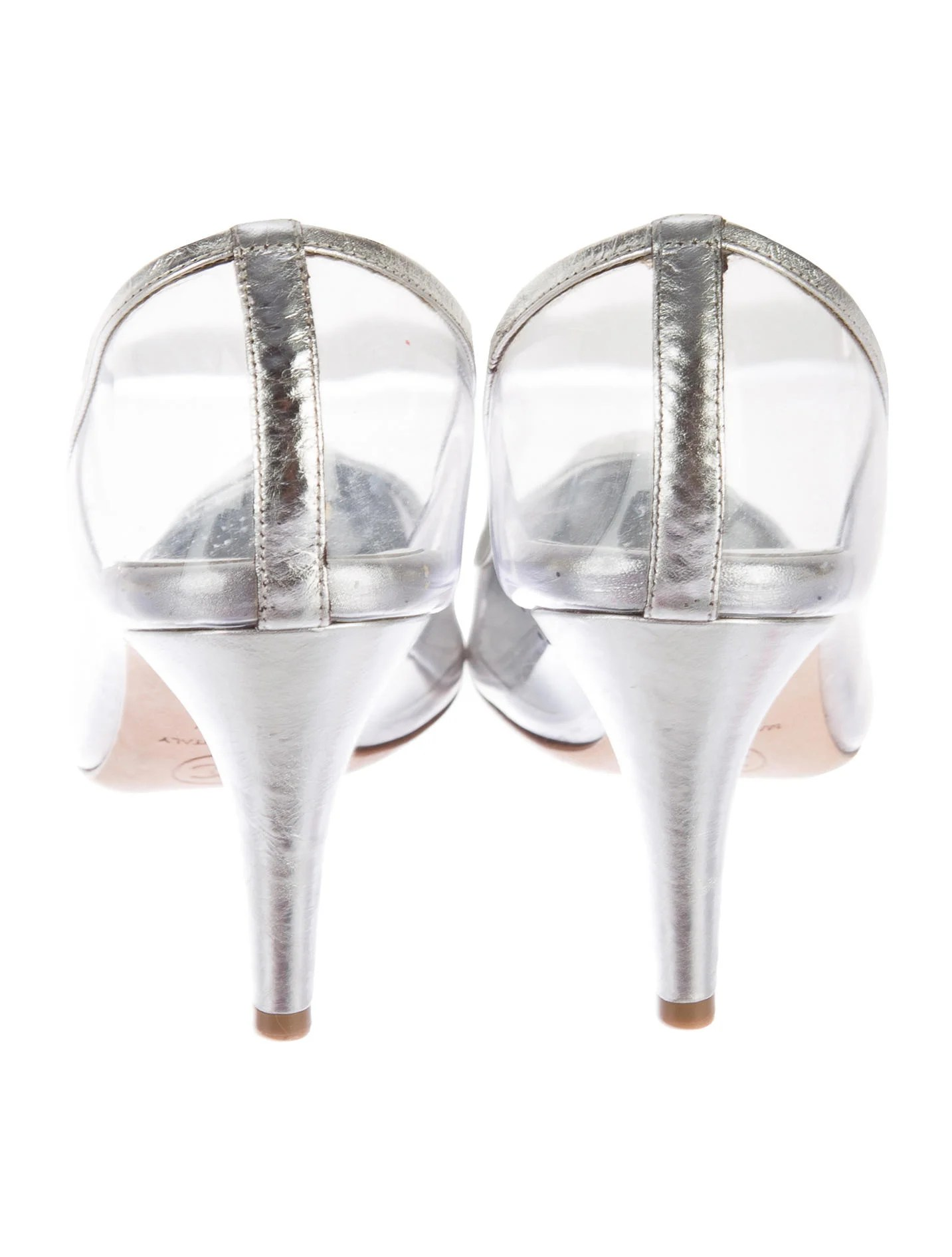 small round kitchen tables essentials calphalon chanel pvc cap-toe pumps - shoes cha134686 | the realreal