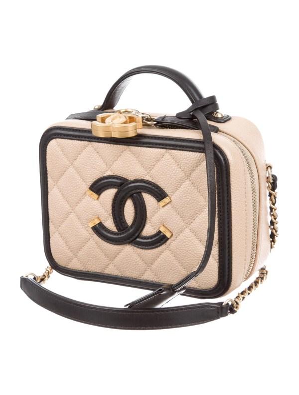 Chanel 2017 Small Cc Filigree Vanity Case - Accessories
