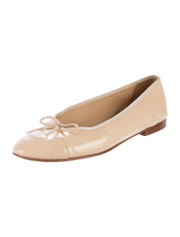 Chanel Patent Leather Ballet Flats Shoes CHA173347