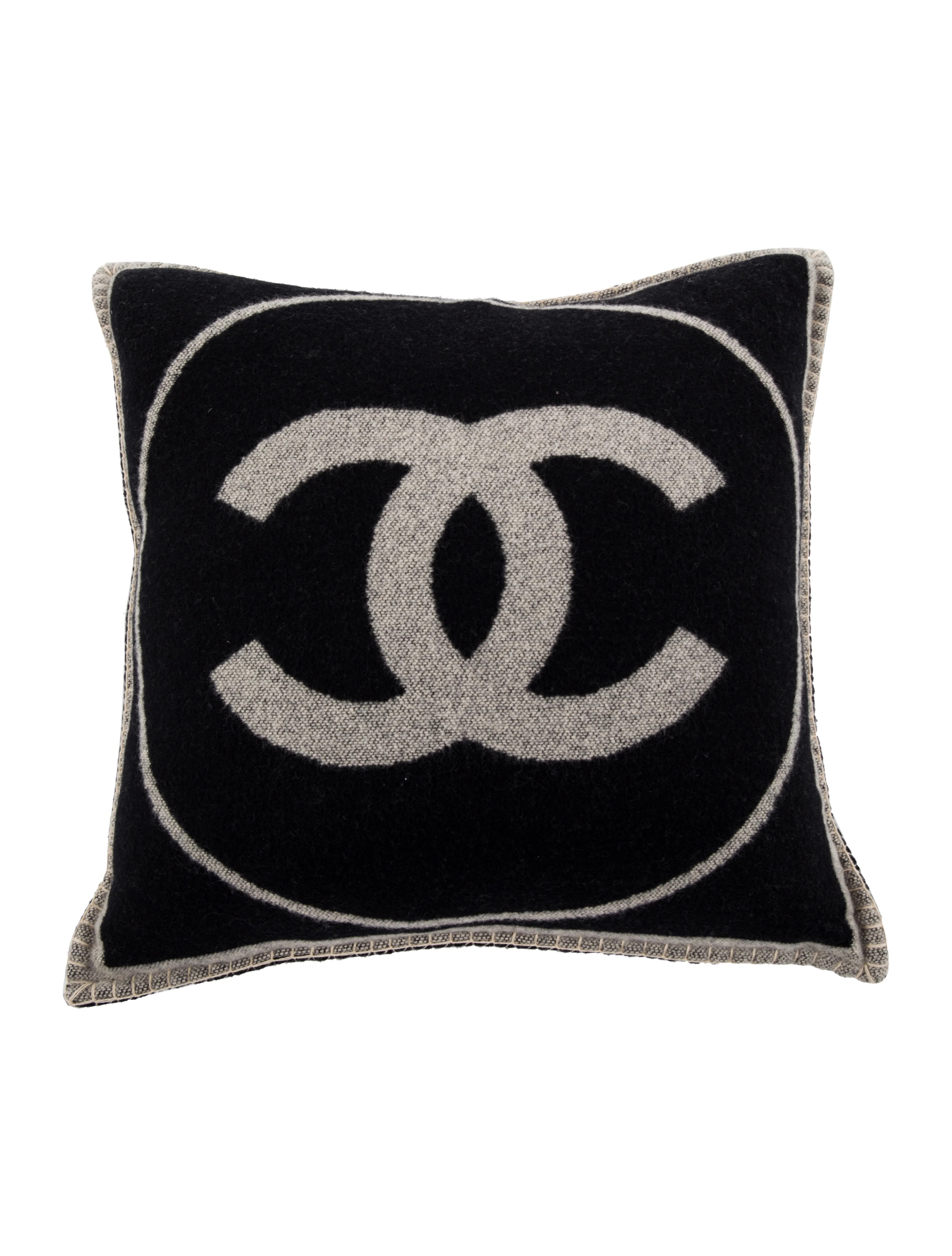 chanel cc throw pillow pillows throws cha285027 the realreal