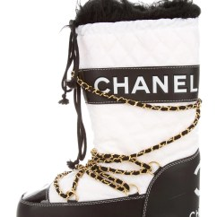 Gold Throws For Sofas Cheap Designer Uk Chanel Moon Boots - Shoes Cha81842 | The Realreal