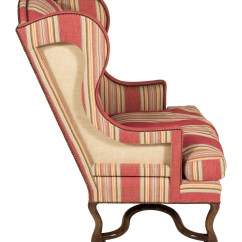 Striped Wingback Chair Ercol Bedroom Upholstered Furniture