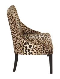 Chair Leopard Print Upholstered Chairs - Furniture ...