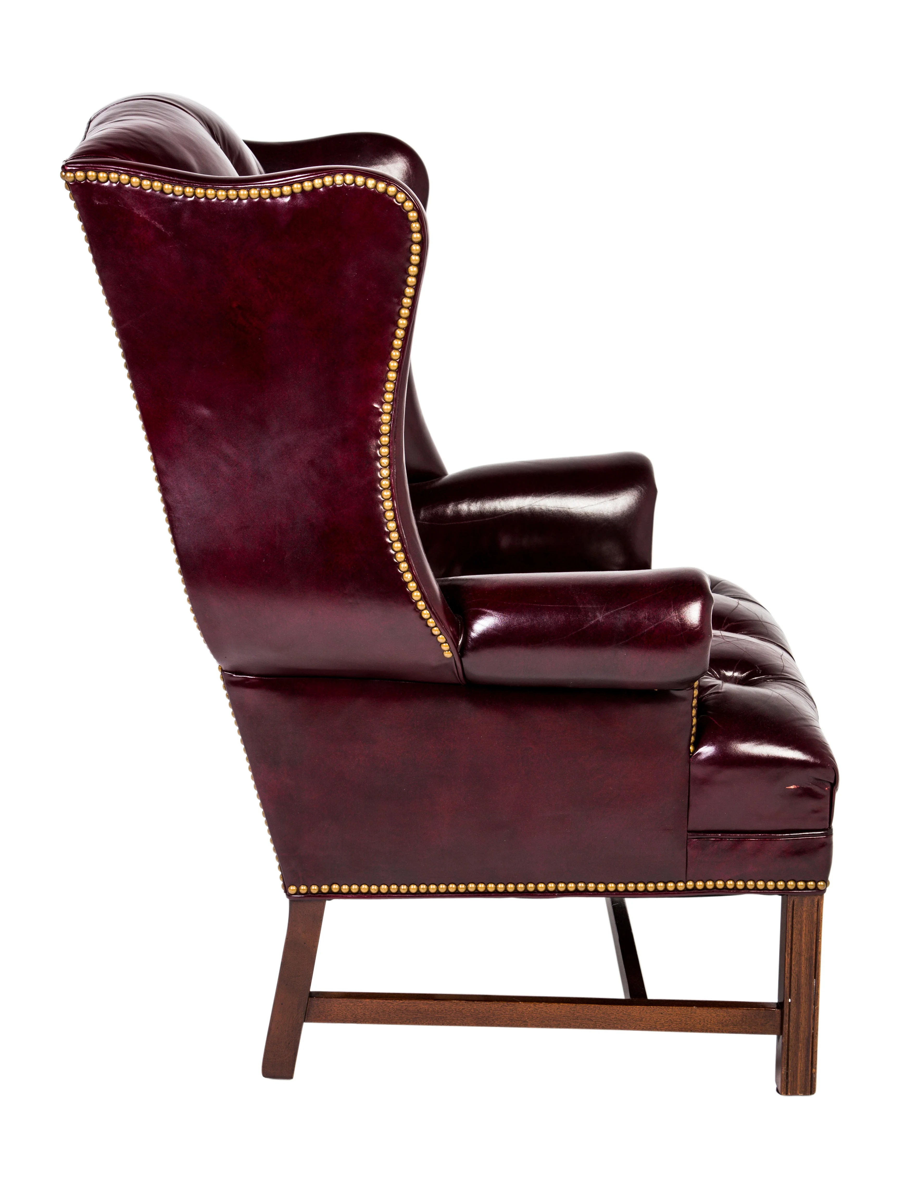 red leather wingback chair covers to buy hancock and moore chairs furniture chair20396