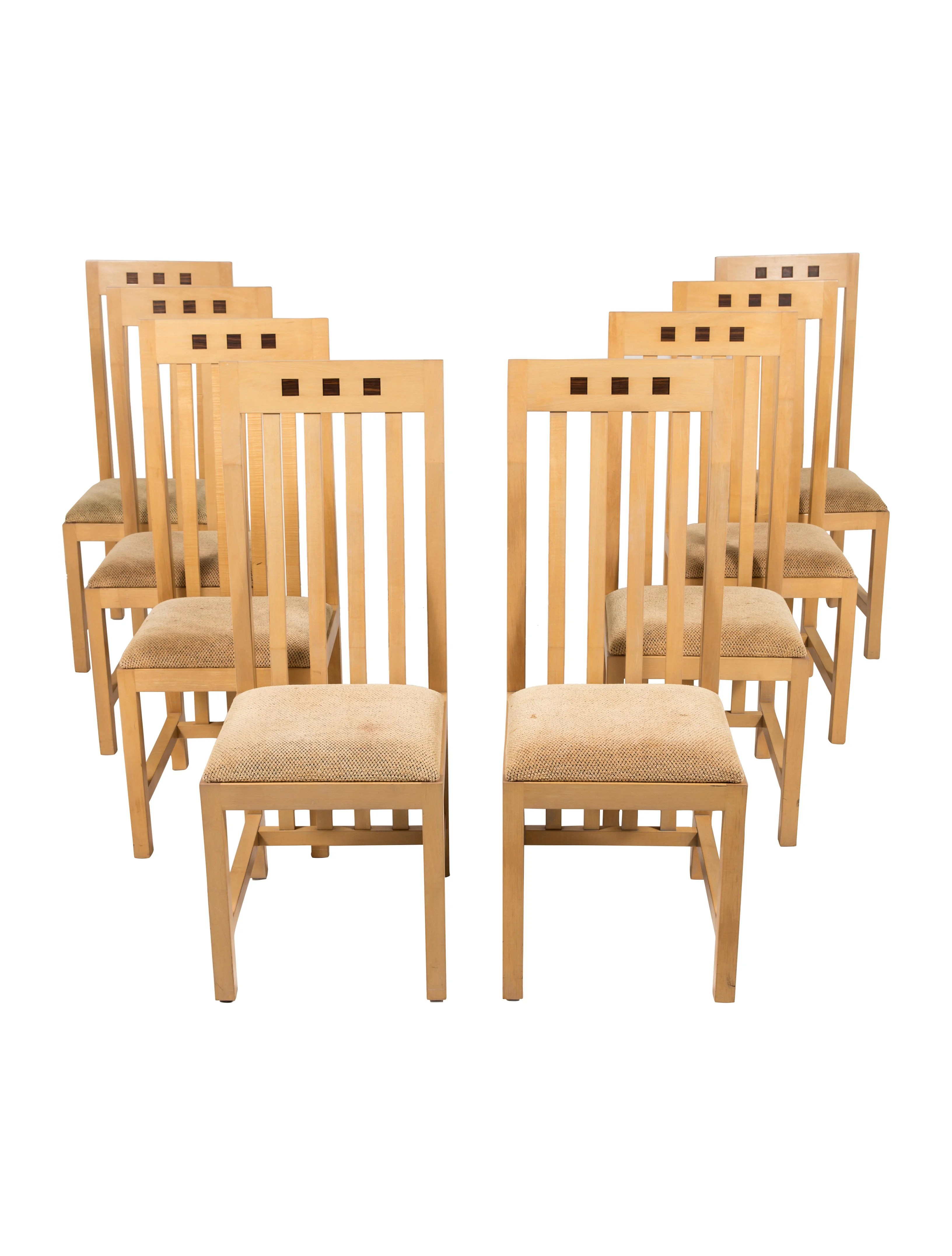 set of 8 dining chairs outdoor portable maple furniture chair20459