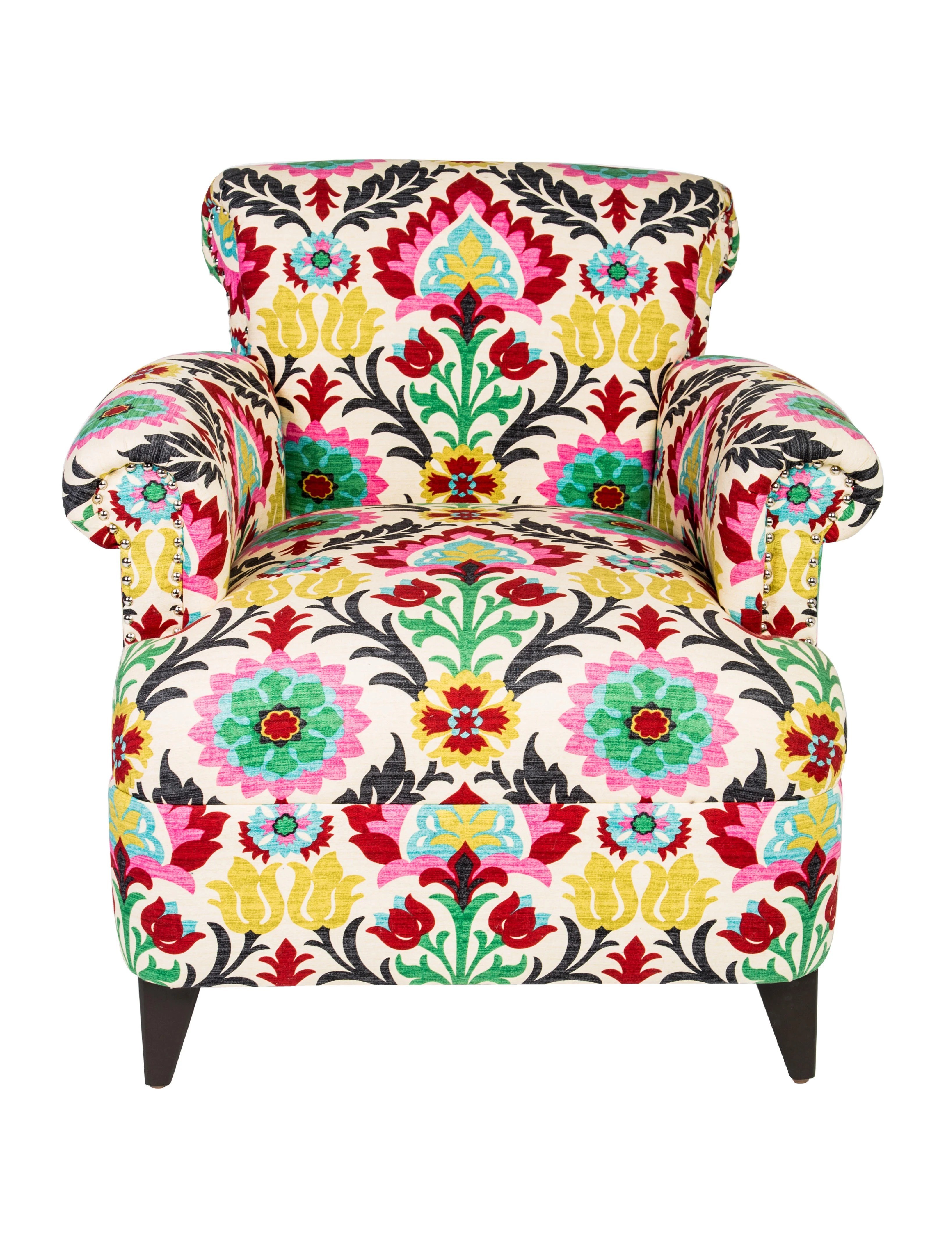 floral upholstered chair high end dining room chairs club furniture chair20495