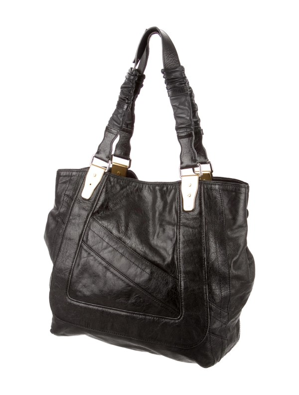 Chlo Distressed Leather Tote - Handbags Chl37318