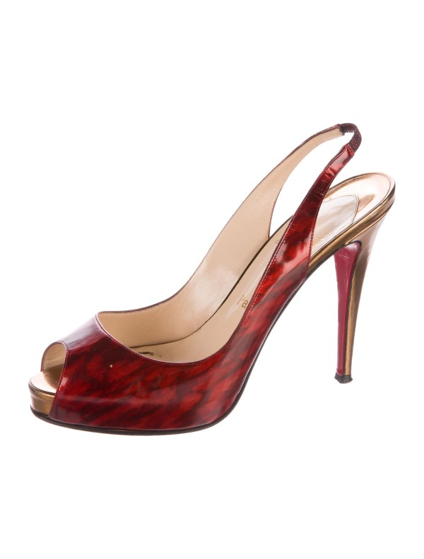 Christian Louboutin Peep-toe Slingback Sandals - Shoes