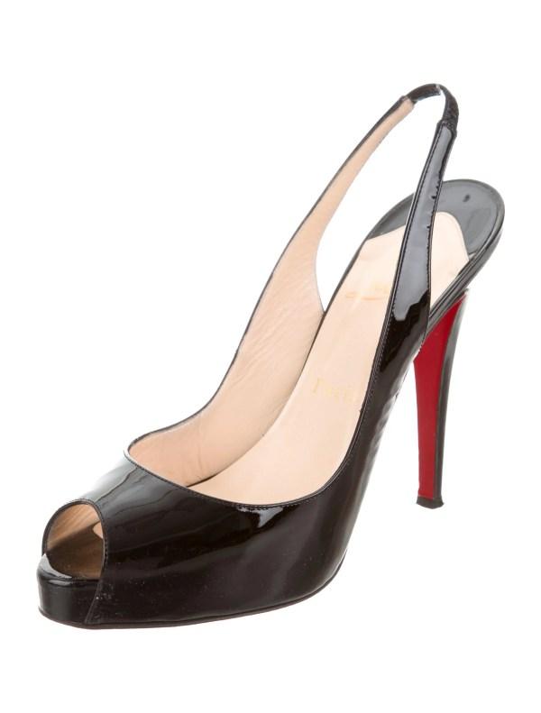 Christian Louboutin Peep-toe Slingback Pumps - Shoes