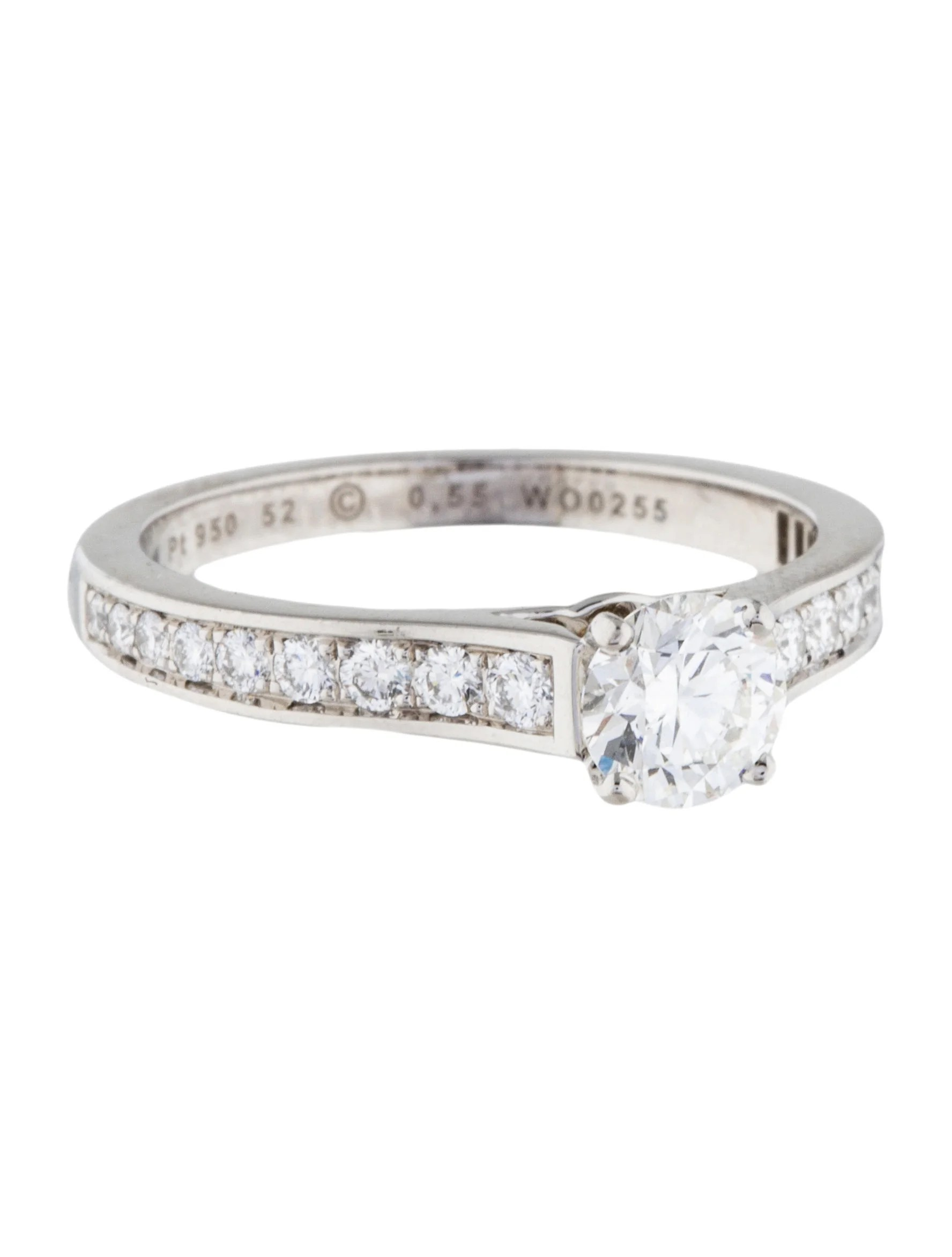 Cartier Platinum Engagement Ring  Rings  CRT25496  The RealReal