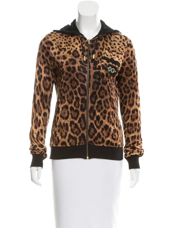 Dolce & Gabbana Hooded Leopard Print Jacket - Clothing