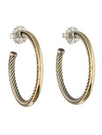 David Yurman Crossover Hoop Earrings - Earrings - DVY28796 ...