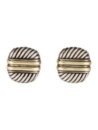 David Yurman Two-Tone Sculpted Cable Earrings - Earrings ...