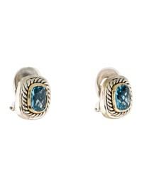 David Yurman Blue Topaz Albion Earrings - Earrings ...