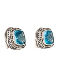 David Yurman Topaz & Diamond Albion Earrings - Earrings ...