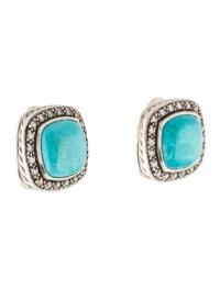 David Yurman Turquoise & Diamond Albion Earrings ...