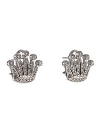 Diamond Crown Earrings - Earrings - EARRI25088   The RealReal
