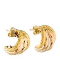 18K Huggie Earrings - Earrings - EARRI37062   The RealReal