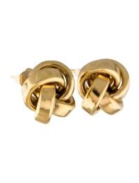 14K Knot Stud Earrings - Earrings - EARRI38263   The RealReal