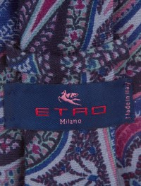 Etro Paisley Print Wool Tie - Suiting Accessories ...