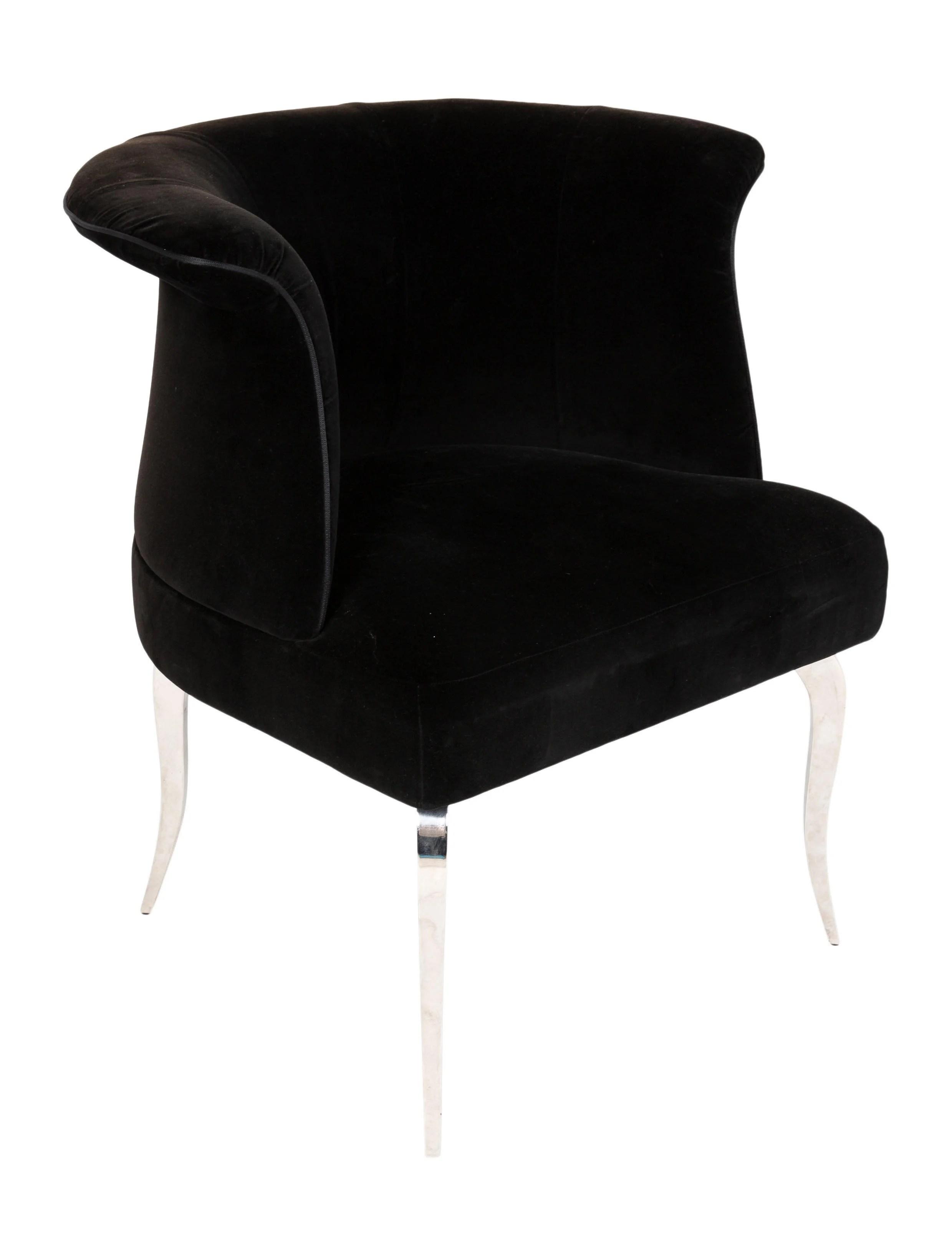 barrel back chair hanging egg with stand indoor fendi casa velvet furniture fcasa20002 the shop consign