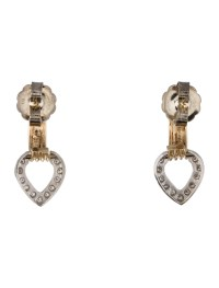 Diamond Heart Drop Earrings - Earrings - FJE28383 | The ...