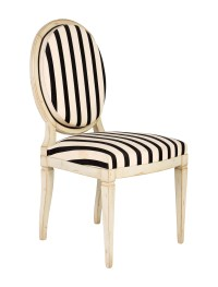 Striped Louis XVI-Style Accent Chair - Furniture ...
