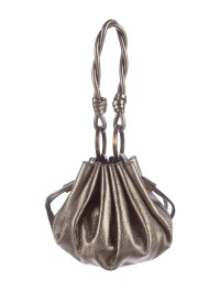 Givenchy Metallic Leather Drawstring Bag - Handbags ...