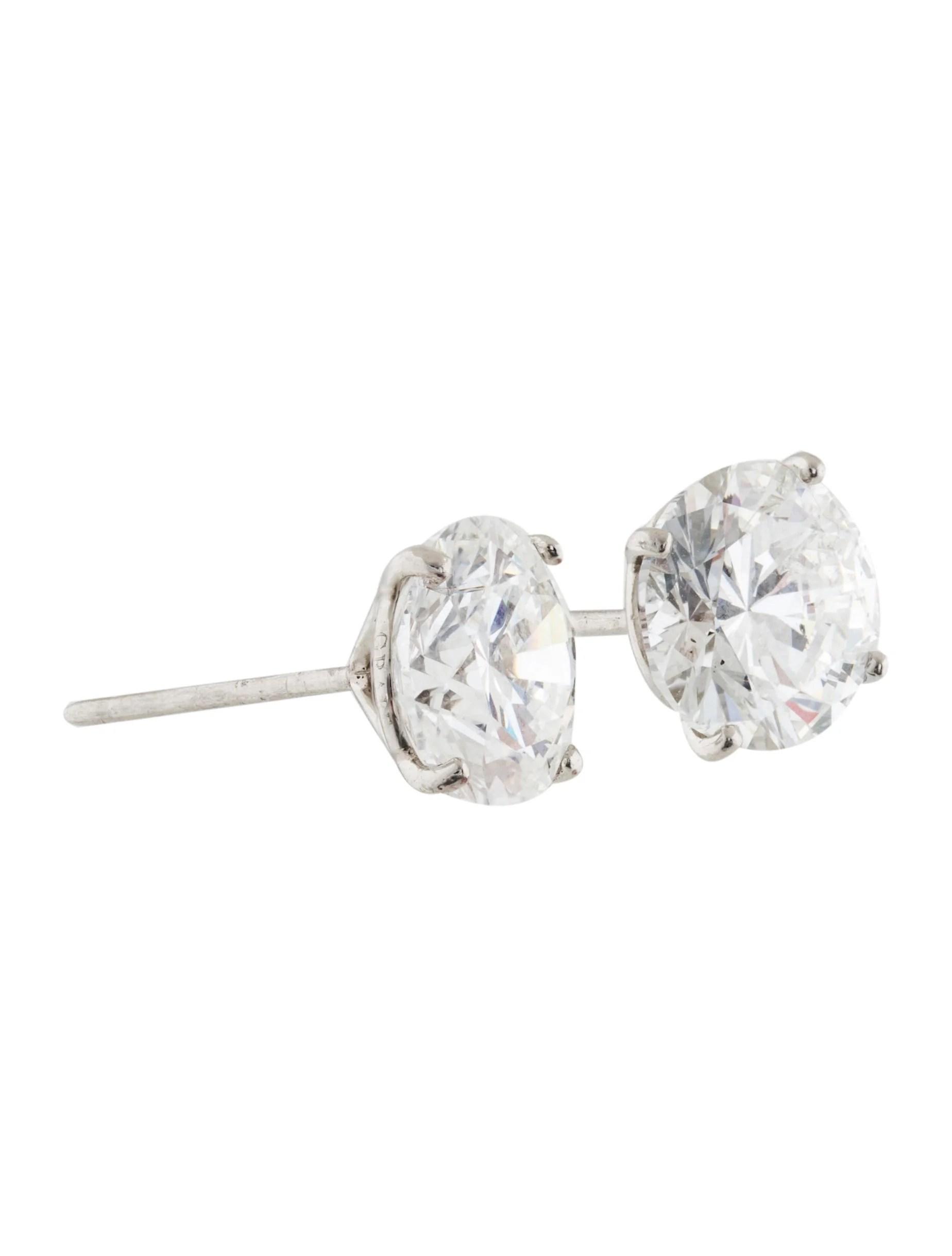 Graff 6 02ctw Diamond Stud Earrings
