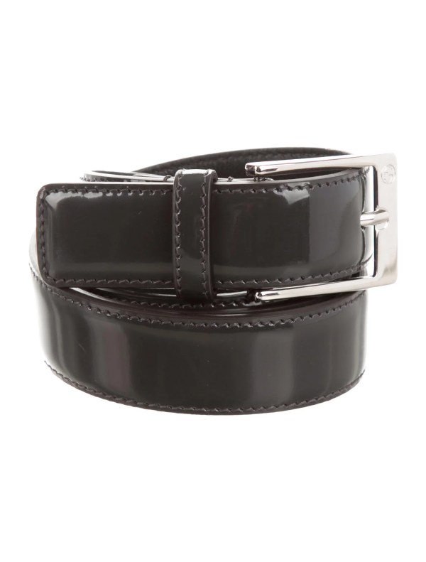 Gucci Patent Leather Belt With Tags - Accessories