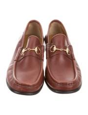 gucci square-toe horsebit loafers