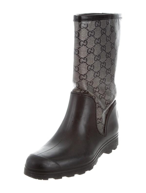 Gucci Gg Rain Boots - Shoes Guc161063 Realreal