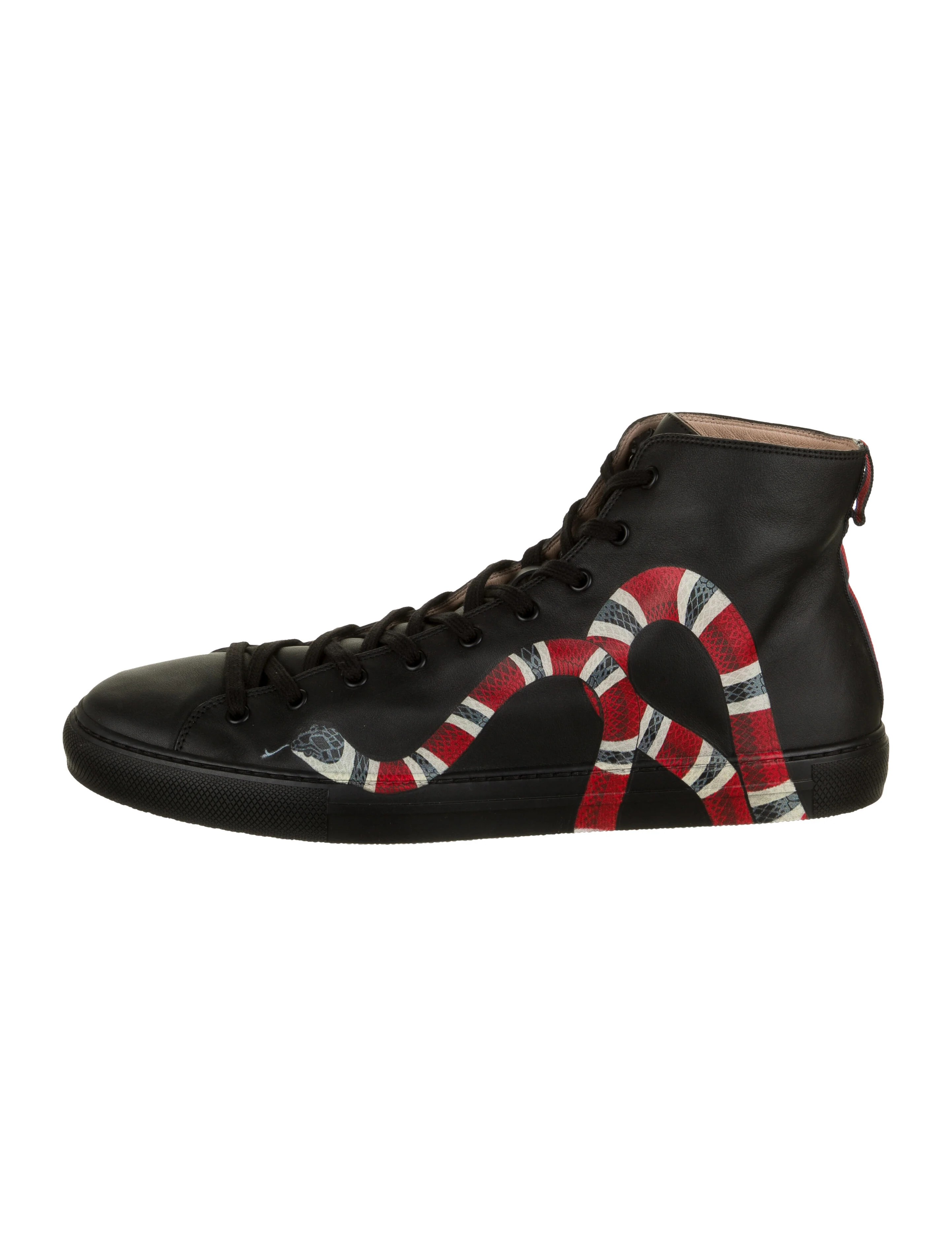 Gucci Leather Kingsnake Sneakers w/ Tags - Shoes - GUC466979   The RealReal