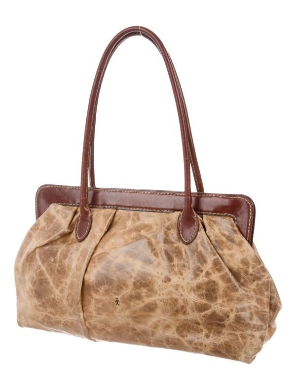 Henry Beguelin Distressed Leather Shoulder Bag - Handbags
