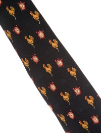 Herms Silk Rooster Print Tie - Suiting Accessories ...