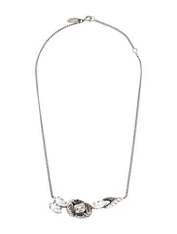 Iosselliani Crystal Snake Head Pendant Necklace