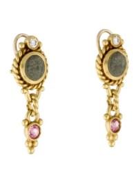 Judith Ripka 18K Cameo Drop Clip-On Earrings - Earrings ...