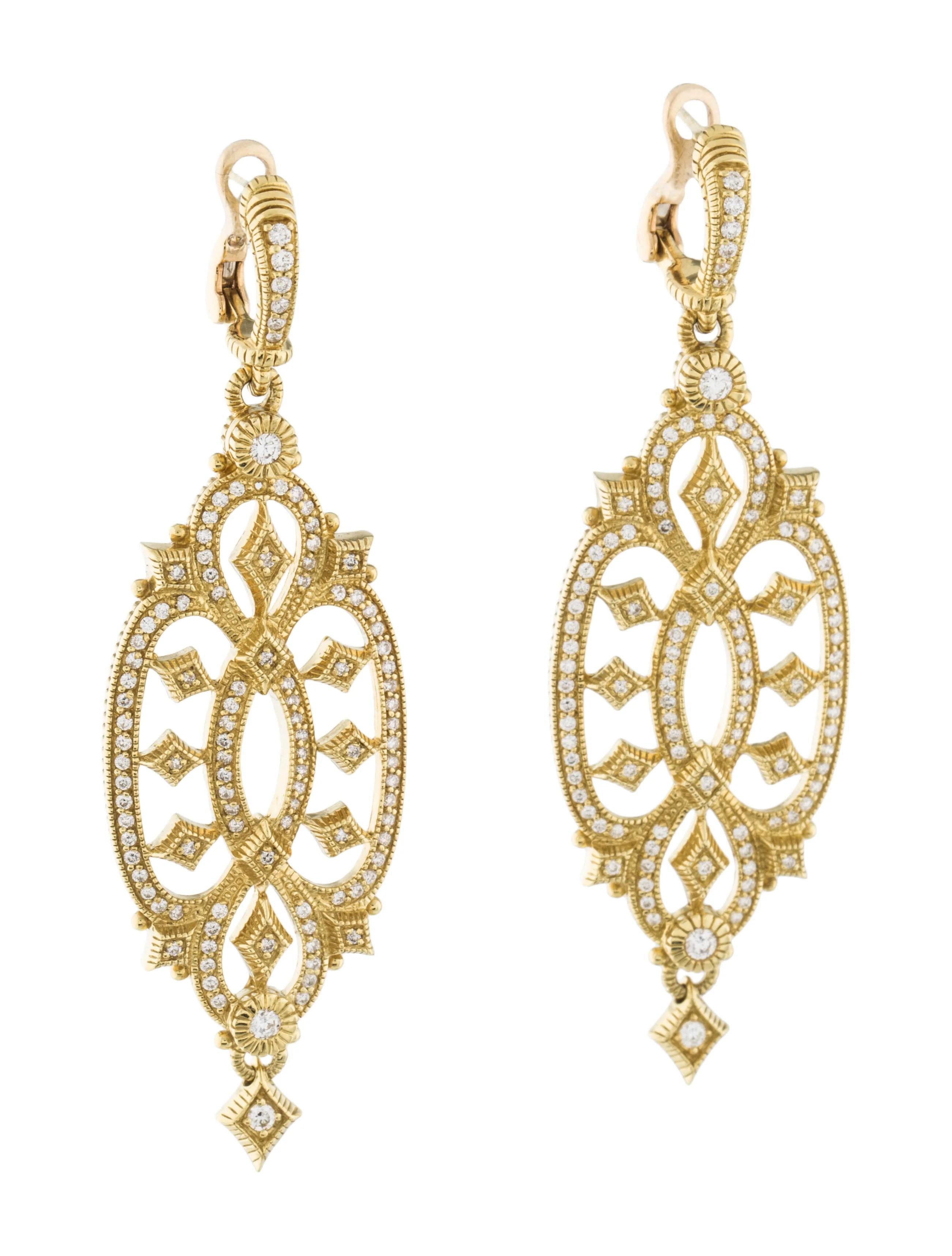 Judith Ripka 18k Diamond Earrings  Earrings  Jrk23670