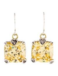 Judith Ripka Canary Crystal & Diamond Drop Earrings ...