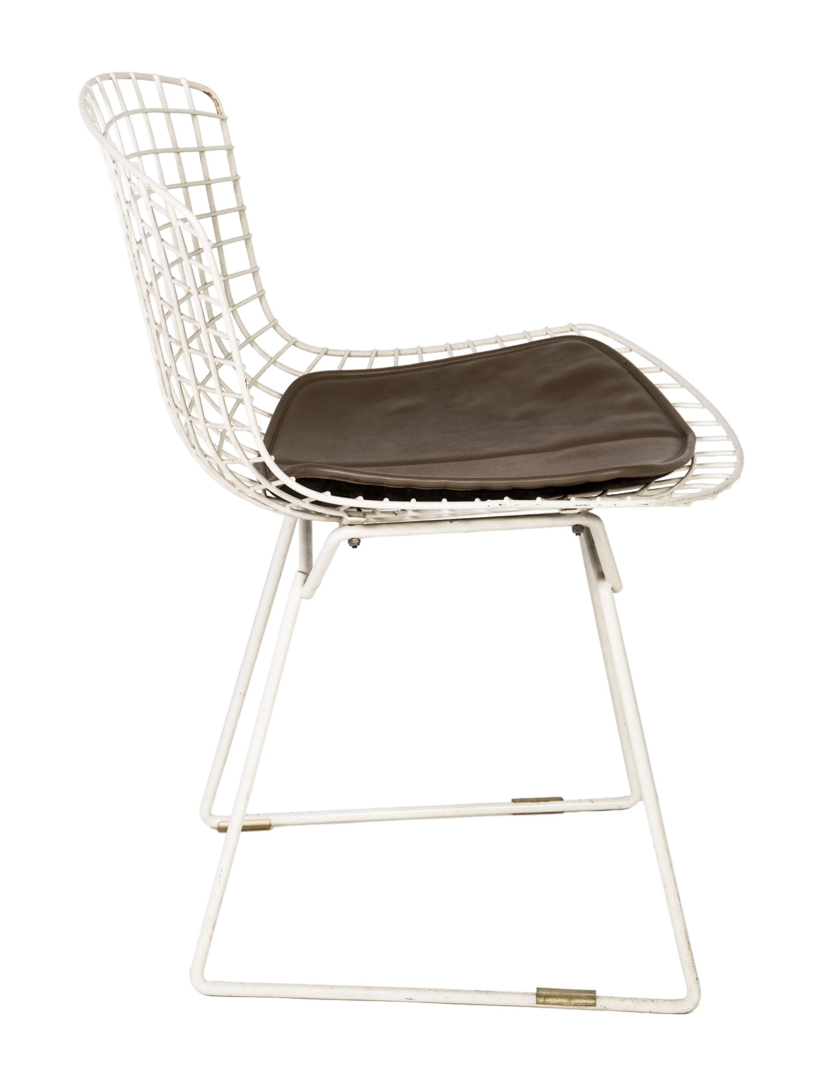white bertoia side chair ergonomic back support cushion knoll chairs furniture knl20098 the