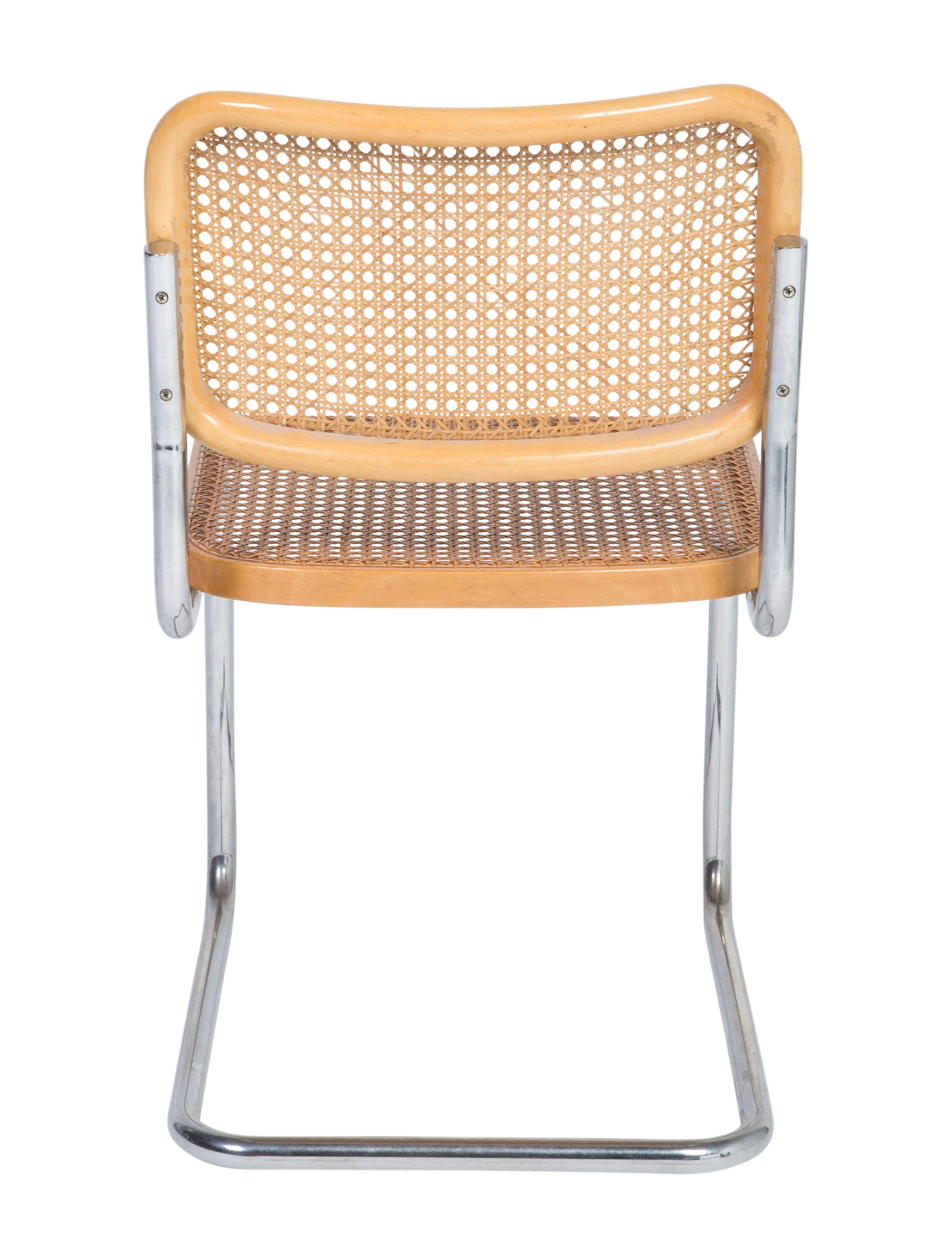 marcel breuer cesca chair with armrests shaker ladder back knoll side furniture