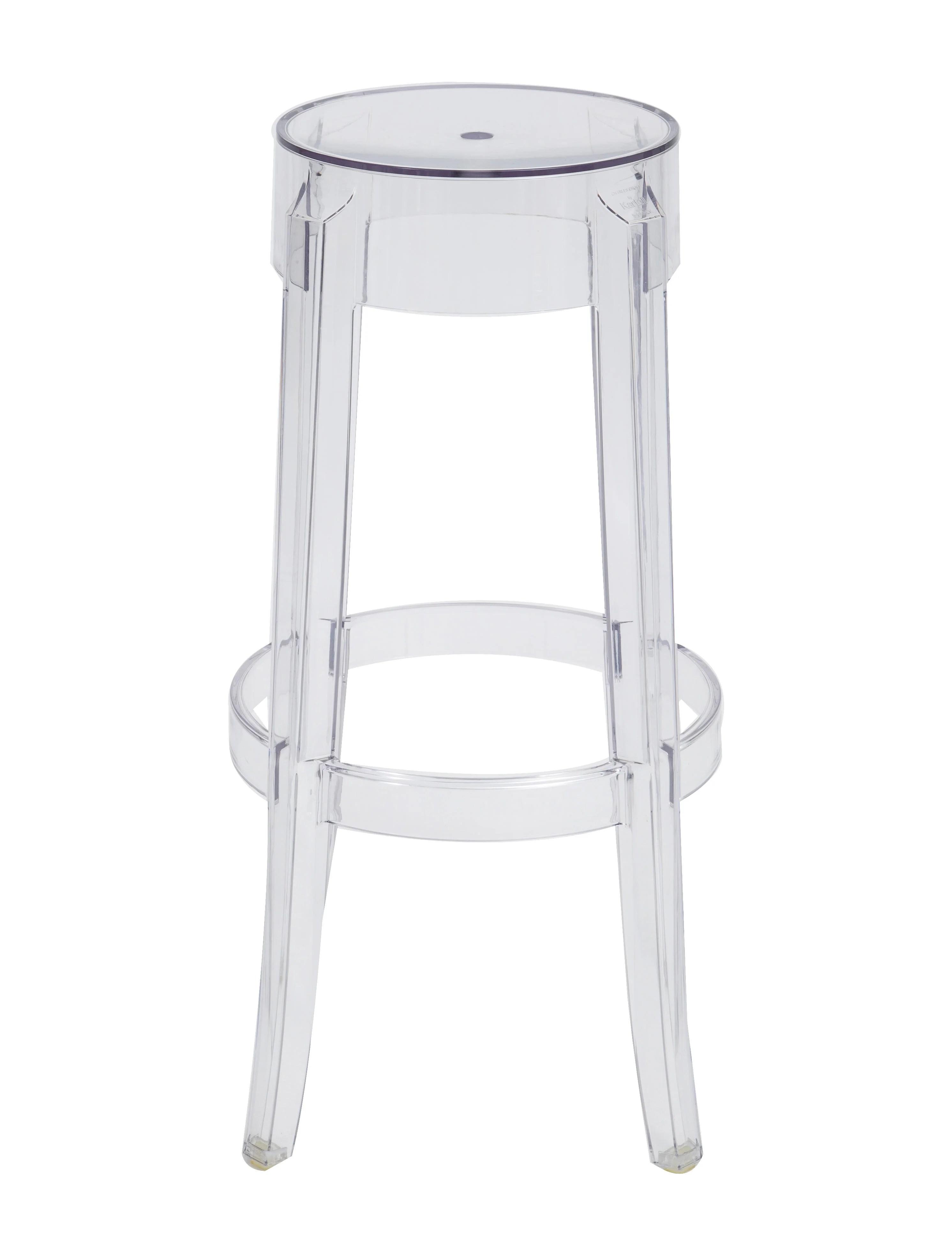 ghost chair bar stool nailhead leather kartell charles stools furniture ktl20102