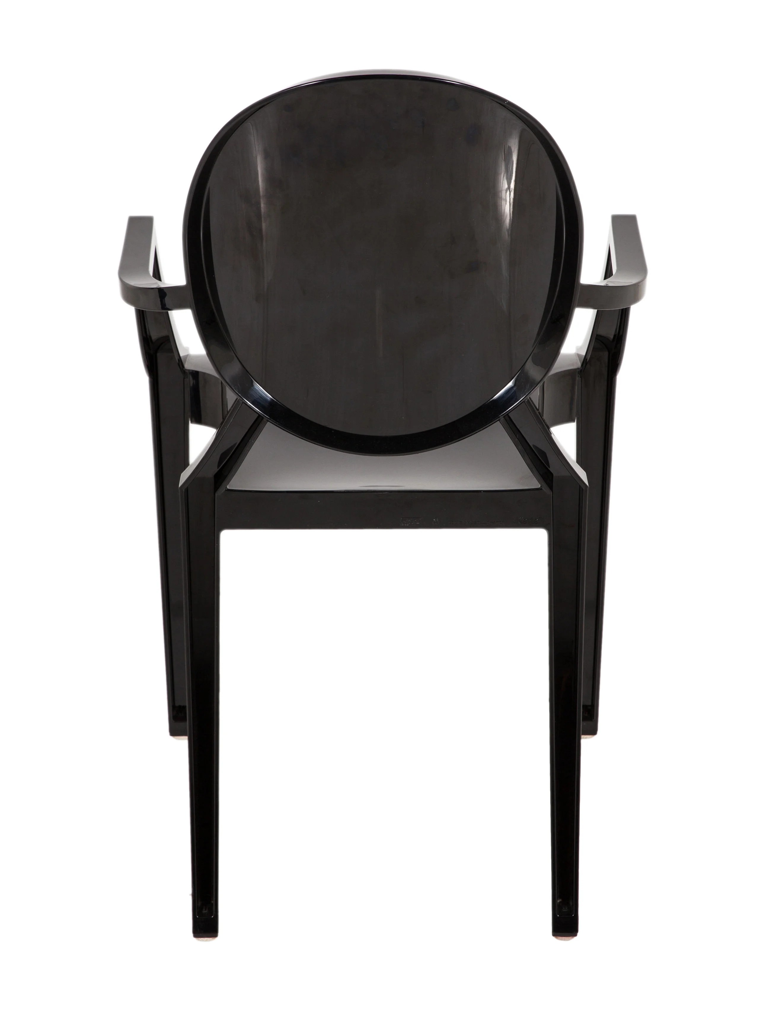 ghost side chair white material dining chairs kartell louis furniture ktl20122 the