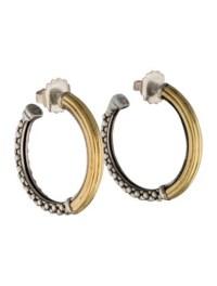 Lagos Caviar Hoop Earrings - Earrings - LAG21294   The ...