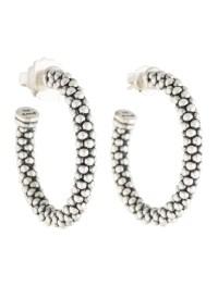 Lagos Caviar Hoop Earrings - Earrings - LAG22135   The ...