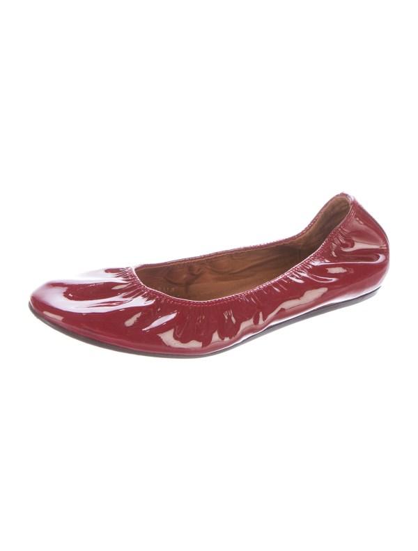 Lanvin Patent Leather Ballet Flats Shoes LAN48734