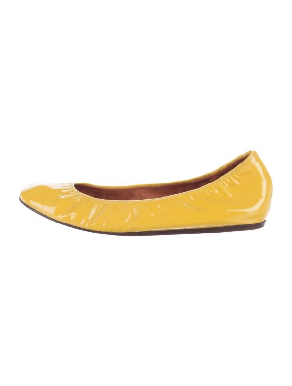 Lanvin Patent Leather Ballet Flats Shoes LAN55509