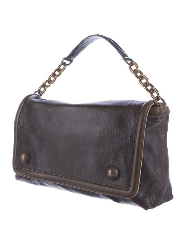 Lanvin Distressed Leather Satchel - Handbags Lan57988